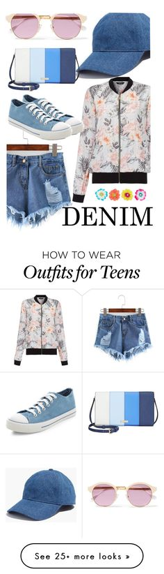 """blue denim"" by geiginana on Polyvore featuring New Look, Madewell, Monsoon, Sheriff&Cherry, Kate Spade, jeanshorts, denimshorts and cutoffs"