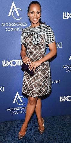 The Scandal star picks a look her neutrals-loving alter ego Olivia Pope would hate at the Accessories Council ACE Awards in N.Y.C.
