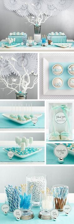 love this winter wonderland theme! if we didn't want to do nautical... this is a bit more feminine for a traditional baby shower