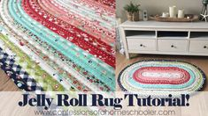 I've had a ton of requests for a Jelly Roll Rug tutorial and so I've partnered with Roma Quilts to bring you this fun and easy tutorial along with my tips for sewing the Jelly Roll Rug! Watch my Jelly Roll Rug Tutorial here! I used 1 Full… Jelly Rolls, Sewing Hacks, Sewing Crafts, Sewing Projects, Sewing Tools, Quilt Batting, Rag Quilt, Quilting Tips, Quilting Tutorials