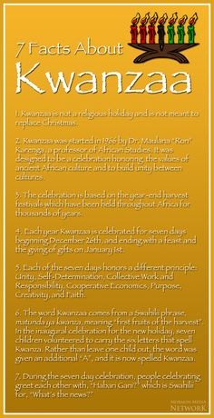 Facts about Kwanzaa. // image by: Wikimedia commons, Nesnad - Mormon Media Network MEMEs , 7 Facts about Kwanzaa. // image by: Wikimedia commons, Nesnad - Mormon Media Network MEMEs , Days Of Kwanzaa, Happy Kwanzaa, African Culture, African American History, 7 Principles Of Kwanzaa, African Holidays, Holidays Around The World, Black History Facts, Blog