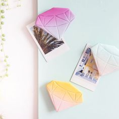 DIY magnets made of FIMO in diamond shape easy to make yourself: with tips and tricks for a gradient Diy Craft Projects, Easy Diy Crafts, Craft Tutorials, Diy Crafts For Kids, Diy Fimo, Diy Clay, Polymer Clay, Bff, Diy Magnets
