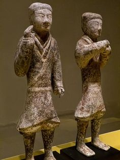 Figures found in the Yangjiawan Tombs at Xianyang, Shaanxi Province China Western Han Dynasty mid-2nd century BCE Earthenware