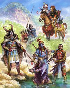 Storm Bull, Orlanthi, Humakti, Captive Pavis official, war zebra rider, Pavis soldier, Real City soldier.  By Jan Pospisil.