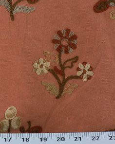Esra Embroidery Cinnamon   Online Discount Drapery Fabrics and Upholstery Fabric Superstore!