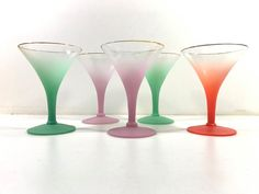 Mid Century Modern Blendo Martini Glasses  by 4EnvisioningVintage