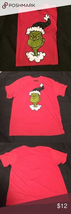 Dr Seuss Grinch Shirt Dr Seuss How the Grinch Stole Christmas Shirt. EUC. Part of the Old Navy Collectabilites line. No trades, PP or M. I'm a fast shipper!   Old Navy Shirts Tees - Short Sleeve
