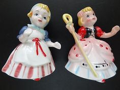 Vintage Bone China Japan Little BO-Peep and Gretel Figurines - http://collectibles.goshoppins.com/decorative-collectibles/vintage-bone-china-japan-little-bo-peep-and-gretel-figurines/