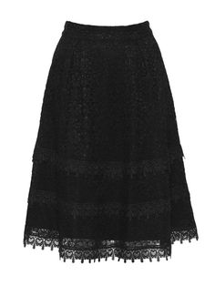 black skirt with lace trim <3
