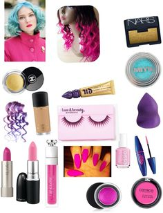 """Barbie Makeup And hair"" by alyssa-zaim ❤ liked on Polyvore"
