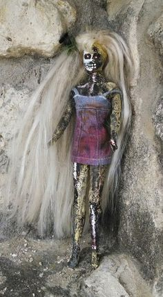 Original Fashion Doll Altered Art Zombie Doll by VeneciaArt, $59.99