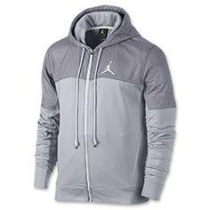 Men's Jordan Timeless Future Full-Zip Jacket| FinishLine.com | Dark Grey/Cement Grey