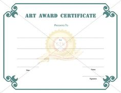 Free Printable Award Certificate Template   High Achiever