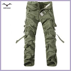 2017 New Men Cargo Pants army green big pockets decoration mens Casual  trousers easy wash male f28fe90ff6a