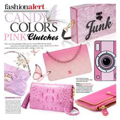 Pink Clutches by never-alone on Polyvore featuring polyvore fashion style Edie Parker Brahmin Chanel Marc by Marc Jacobs Yazbukey