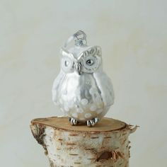 Mercury Glass Owl Ornament This is what I want for my ornament this year!