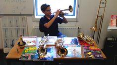 Cornet pupil Thomas as assistent during open day @SKVRmuziekCapelle