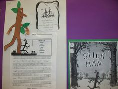 """Writing activity for the book """"Stick Man"""" by Julia Donaldson. """"Stick Man lives in the family tree with his stick lady love and their stick children three. Julia Donaldson Books, Christmas Hanukkah, Christmas Ideas, Christmas Writing, Primary Science, Stick Man, Christmas Fireplace, Author Studies, First Grade Classroom"""