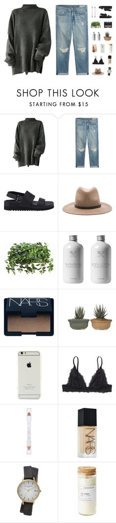 """""""16 DAYS UNTIL CHRISTMAS"""" by smoothpeanutbutter ❤ liked on Polyvore featuring rag & bone, Senso, NARS Cosmetics, Monki, shu uemura and Topshop"""