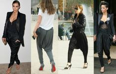 What to wear with harem pants; discover the best outfits to wear with harem pants. How to wear harem pants: the best way to wear harem pants women Bad Fashion, Fashion Fail, Fashion Pants, Trendy Fashion, Fashion Outfits, Fashion Trends, Sarouel Pants, Harem Trousers, Women's Pants