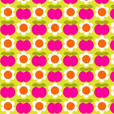 Apple_Daisy_Pink fabric by aliceapple on Spoonflower - custom fabric