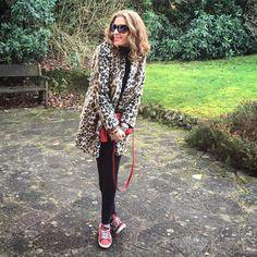 Black, leopard, red. #ootd #wiwt #london #fashion #leopard