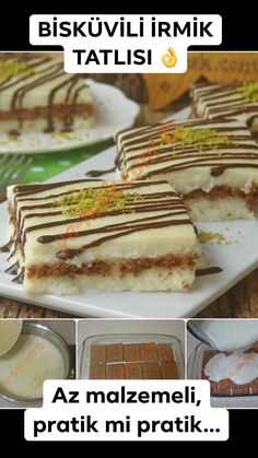 (Az malzemeli) Those who love İRMİK tea will love this dessert. A delightful, low-ingredient IRONIC dessert . dessert the recipes Great Desserts, Best Dessert Recipes, Sweet Recipes, Delicious Desserts, Yummy Food, Artisan Bread, Biscuit Recipe, Cookies, Food Recipes
