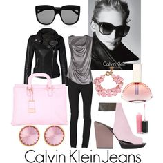 """""""Put it on. Take it off. Show us your Calvins.: Calvin Klein Contest Entry-pink euphoria"""" by kc-spangler on Polyvore"""