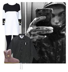 """Unbenannt #656"" by princesss1994 ❤ liked on Polyvore featuring NIKE, Zara, Justin Bieber and UGG Australia"