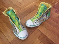Ed Hardy high rise green yellow turquoise sneakers tennis shoes US10 EU41  #EdHardy #CasualShoes
