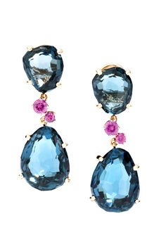 Celebrities who use a Pomellato Bahia Topaz and Pink Sapphire Earrings. Also discover the movies, TV shows, and events associated with Pomellato Bahia Topaz and Pink Sapphire Earrings. I Love Jewelry, Jewelry Box, Jewelry Accessories, Fine Jewelry, Jewelry Design, Unique Jewelry, Jewellery, Pomellato, Pink Sapphire Earrings