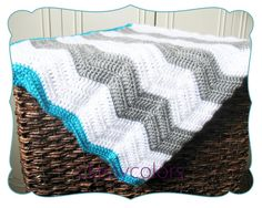 CHEVRON+BABY+BLANKET+++you+pick+up+to+three+colors+by+ClassyColors,+$55.00