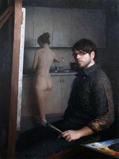 Jeremy Lipking self-portait