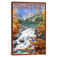 iCanvas 'U.S. National Park Service Series: Rocky Mountain National Park