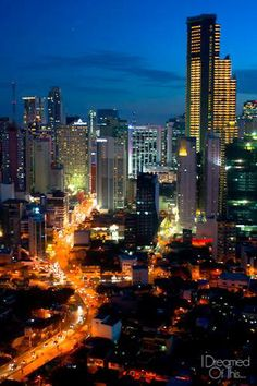 The skyline of Makati, Manila - I Dreamed of This Philippines Culture, Manila Philippines, Filipino Culture, Visayas, Mindanao, Quezon City, World Pictures, World Cities, Famous Places