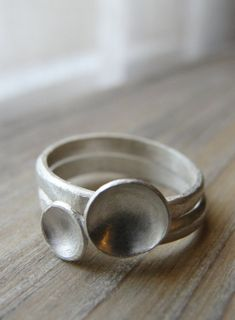 silver rings. hard to find them in shops now.