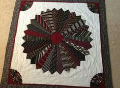 Necktie quilt made for her daughter out of dad's ties. She's going to use as a wall hanging. What a great memory. Quilting Projects, Quilting Designs, Sewing Projects, Quilting Ideas, Quilting Room, Tie Crafts, Sewing Crafts, Necktie Quilt, Old Ties