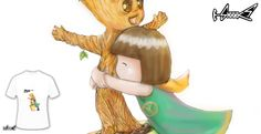 T-shirts - Design: Hug Groot - by: Karin  Kop