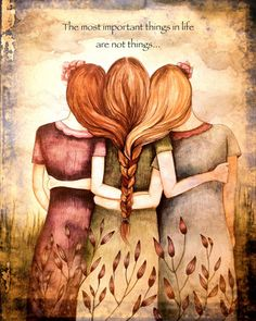 Tree sisters art print with quote or with by PrintIllustrations, $20.00 (Missing a sister though!)
