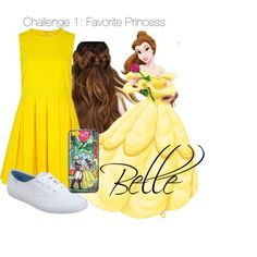 Challenge 1: Favorite Princess- Belle by disneycraze6 on Polyvore featuring polyvore fashion style RED Valentino Keds Disney