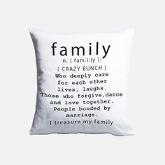 Superbalist - Family Definition Cushion Cover Market Day Ideas, Family Definition, Craft Markets, Definitions, Decorative Accessories, Cushions, Black And White, Cover, Throw Pillows