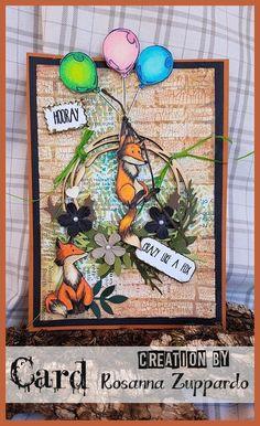Some crazy foxes larking around to put a smile on your faces, on this fun card by Rosanna Zuppardo. She has used Olga Heldwein's stamp Handmade Card Making, Beautiful Handmade Cards, Cool Cards, Cardmaking, Stamp, Foxes, Create, Funny Things, Painting