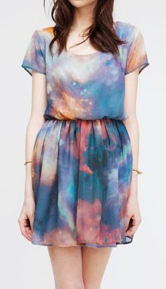 "Galaxy Dress. this would most definitely push the whole ""hipster"" thing over the top haha."