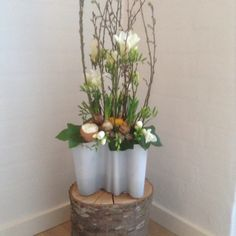 Use your Aalto vase as a flower arrangement vase for a great lasting display, looks amazing. Marts, Flower Arrangements, Planter Pots, Display, Spring, Amazing, Creative, Flowers, House
