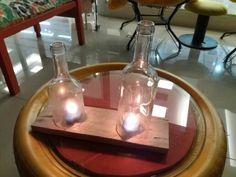 Luminárias com garrafas de vidro ...iluminação e encanto by Isa Perinotto