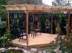 Japanese Style Patio | asian inspired pergola asian patio
