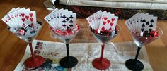 Poker themed center pieces! !!!