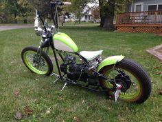 My kikker 5150 custom painted bobber motorcycle Mini Chopper, Bobber Chopper, Bobber Bikes, Bobber Motorcycle, Bobber Style, Easy Rider, Pedal Cars, Mini Bike, Triumph Motorcycles