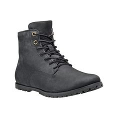 Women's Timberland Joslin Ankle Boot - Black Nubuck Ankle Boots ($120) ❤ liked on Polyvore featuring shoes, boots, ankle booties, ankle boots, black, lace up boots, lace-up bootie, black booties and lace up booties