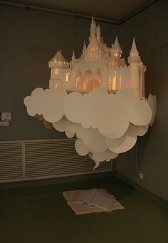 Suspended castle on a cloud lamp. This is so cute!
